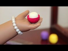 Learn how to make American Girl Doll eos Lip Balm. This doll craft is fun & easy to make. We love how this eos doll lip balm looks and we hope you enjoy our . American Girl Doll Room, American Girl Furniture, American Girl Crafts, American Dolls, American Girl Doll Gymnastics, American Girl Birthday, Ag Doll Crafts, Diy Doll, Crafts For Girls