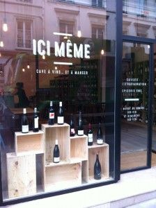 La vitrine d'Ici-même, caviste au 68 rue de Charenton