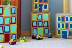 The Big City… DIY cardboard building blocks