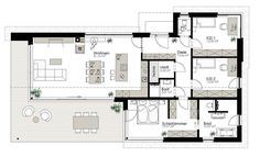 Kötz Haus - Solid brick and turnkey Small Floor Plans, Small House Plans, House Floor Plans, Solid Brick, Architect Drawing, Usonian, Narrow House, Contemporary House Plans, Good House