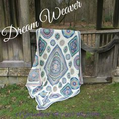 Dream Weaver Afghan by Helen Shrimpton of crystals and crochet