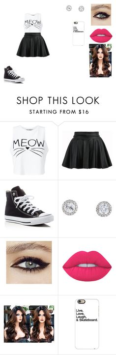 """Untitled #406"" by nala1220 on Polyvore featuring Miss Selfridge, Converse, Lime Crime and Casetify"