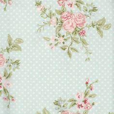 Wachstuch Tischdecke A.U Maison Blumenmuster türkis Meterware auch zum Nähen