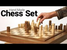 Making a Chess Board and All of Its Pieces - Including the Horse, the Castle, and the Pointy One! Wood Scraps, Wood Projects, Drill, Castle, Boards, Horses, Youtube, How To Make, Chess Sets