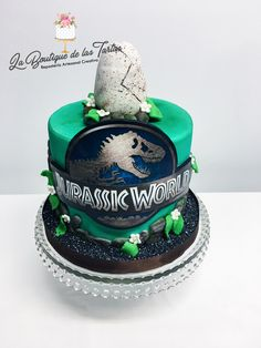 tarta jurassic world Lego Jurassic Park, Jurassic World Cake, Jurassic Park Party, 7 Cake, Dino Cake, 9th Birthday Parties, Dinosaur Birthday Party, Dinosaur Cakes For Boys, Themed Cakes