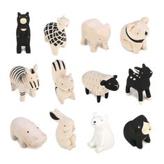 T-lab wooden animals - Wood How to Crafts Carved Wooden Animals, Wooden Animal Toys, Wood Animal, Ceramic Animals, Wood Toys, Clay Animals, Kawaii, Animal Cutouts, Wood Projects For Kids