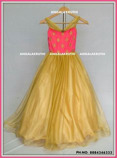 #kids long Gown desings by Angalakruthi boutique Bangalore Watsapp:8884347333