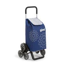 Carrello portaspesa a 3 ruote Gimi: carrello per la spesa in tessuto lavabile, con 3 ruote per salire agevolmente i gradini. Da 56 lt.