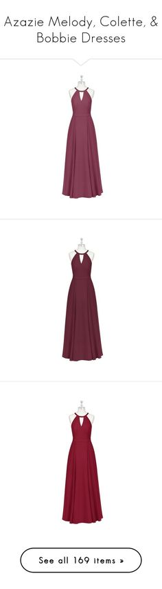 """""""Azazie Melody, Colette, & Bobbie Dresses"""" by bronwyn-black ❤ liked on Polyvore featuring dresses, purple bridal dresses, purple dresses, chiffon dresses, holiday party dresses, chiffon bridal dresses, purple bridesmaid dresses, bridal bridesmaid dresses, chiffon bridesmaid dresses and brides dresses"""
