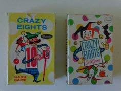2 Vintage Decks of Crazy Eights Cards. Perfect for Crafting/Scrapbooking. Nice Mid Century Graphics. by LeObjectUnique on Etsy
