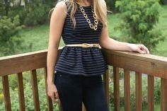 eyeful of lovely: Girly Peplum: DIY Shirt Refashion Tutorial