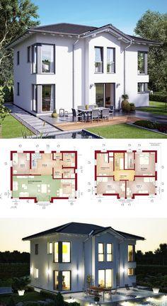 STADTVILLA MODERN // Haus Evolution 148 V3 Bien Zenker   Einfamilienhaus  Moderne Architektur Mit Walmdach
