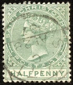 """1882 Scott 9 rose """"Queen Victoria"""" Quick History One of the five Presidencies of the British Leeward Islands Colony, St. Rose Queen, Stamp Collecting, Central America, Postage Stamps, Caribbean, Vintage World Maps, Commonwealth, History, Ephemera"""