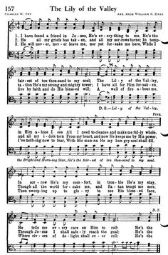 """Hymn: """"The Lily of the Valley"""". Gospel Song Lyrics, Christian Song Lyrics, Gospel Music, Christian Music, Music Lyrics, Hymns Of Praise, Praise Songs, Worship Songs, Church Songs"""