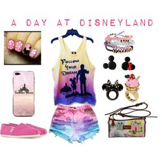 """""""A Day at Disneyland Outfit"""" by karla-cristina on Polyvore Disney Fashion Mickey Mouse"""