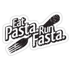 Eat Pasta. Run Fasta. Sticker