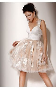 your wedding dress doesn't have to be the same! try something a little fun and different