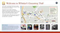 Map panel for a stop along the Whittier Greenway Trail, Whittier, CA. #interpretive text #interpretive signs #interpretive panels #wayside exhibits #whittier greenway trail