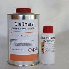 1-Kg-Giessharz-glasklar-20-g-Haerter-Polyesterharz-casting-resin