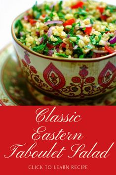 Eastern Taboulet Salad - My favorite recipes Easy Salad Recipes, Easy Healthy Recipes, Dog Food Recipes, Vegetarian Recipes, Healthy Food, Bulgur Recipes, Oriental Salad, Meals Without Meat, Bulgur Salad