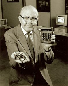 Jack Kilby. Yesterday we explained that the transistor was invented by Schockley and his cohorts. The transistor enabled things like the portable radio. In the 1920's-1940's, radios were big power hungry behemoths, but with the invention of the transistor, by the 1950's and 1960's you could have a portable battery powered radio you could carry around in your pocket. Shockley http://old-photos.blogspot.com/2013/07/shockley.html