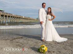 Folly beach wedding photos. Charleston, SC wedding. Photos by Rich Burkhart. www.photosbyrb.com