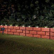 Solar Faux Brick Garden Border Set   4pc   37975