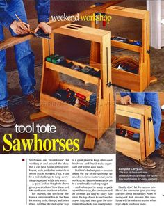 Tool Tote Sawhorses - Workshop Solutions