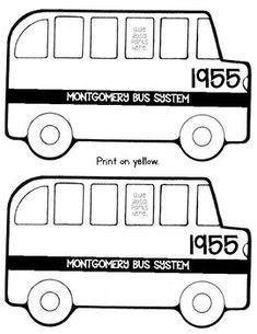 Montgomery Bus Boycott Coloring Sheet and Activity Sheet