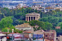 Athènes 23 le Temple de Zeus au bout de l'Agora