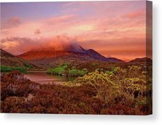 Sunset In Paradise Canvas Print by Ren Kuljovska.  All canvas prints are professionally printed, assembled, and shipped within 3 - 4 business days and delivered ready-to-hang on your wall. Choose from multiple print sizes, border colors, and canvas materials.  #finerart #homedecor #homedecoridea #fineartprint #giftidea #wallart #canvasprint #scotland #pinksunset #scottishparadise #beautyofsunset #alba Beautiful Artwork, Beautiful Images, Prints For Sale, Art For Sale, Pink Sunset, Photography Awards, Stretched Canvas Prints, Handmade Art