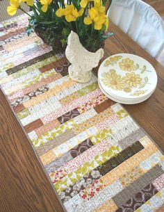 Stacked Strips Table Runner — Sharon Holland Designs