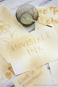 invisible ink knutselen tieners kamer How to Send Secret Messages with Invisible Ink and Oxidation Escape Room Diy, Escape Room For Kids, Escape Room Puzzles, Message Secret, Escape Room Challenge, Fun Crafts, Crafts For Kids, Invisible Ink, Business For Kids
