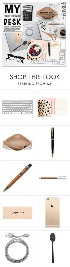 """What's on my desk?"" by anna-anica ❤ liked on Polyvore featuring interior, interiors, interior design, home, home decor, interior decorating, Kate Spade, Parker, Retrò and Faber-Castell"