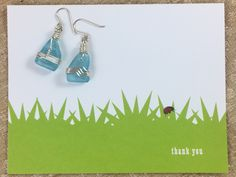 Say thank you to a wonderful teacher with 2S  Beach Glass earrings made from upcycled beach glass creating a beautiful and one of kind accessory for a one of a kind teacher