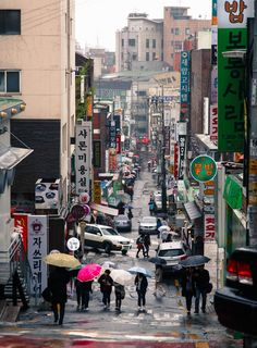 Rainy Seoul Streets by Peter Tsai