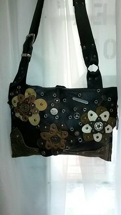 SOLD Handcrafted Leather Boho/ Gypsy Large by WhiteBuffaloCreation