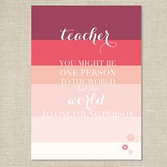 Teacher Appreciation   Free Printable