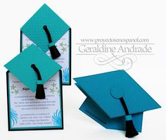 Love these - might come in handy since we will be having some graduations in the next couple of years Unique Graduation Gifts, Graduation Decorations, School Decorations, Graduation Invitation Cards, Graduation Cards, Graduation Ideas, 8th Grade Graduation, Preschool Graduation, Fancy Fold Cards