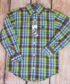 $17.99!!! free ship! CINCH Jeans MTW7060011 Boys cowboy SHIRT Western Button up  NWT Youth XS 4/5 #CINCH #DressyEverydayHoliday