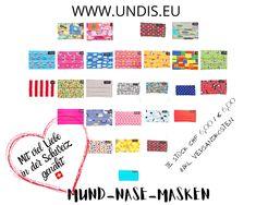 Bei UNDIS www.undis.eu gibt es jetzt auch MUND-NASEN-MASKEN im Partnerlook für Erwachsene und Kinder. Je Stück CHF 6,00 / € 6,00 (Versandkosten sind im Preis inkludiert) #undis #maskeauf #behelfsmaske #mundnasenmaske #mundmaske #gesichtsmaske #nähen #kreativ #bunt #maske #corona #virus #maske #mundnasenschutz #deutschland #schweiz #österreich #maske #kinder #eltern #diy #partnerlook #bunt #gesundheit #mundnasemaske Bunt, Periodic Table, Corona, Funny Underwear, Kids, Men's Boxer Briefs, Great Gifts, Switzerland, Parents