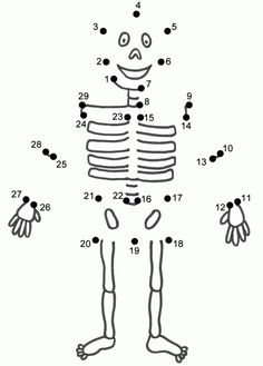 This Skeleton connect the dots page features a dot to dot puzzle for Halloween. This activity worksheet helps kids practice connecting the dots, counting by (Connect . Halloween Worksheets, Halloween Activities, Worksheets For Kids, Holiday Activities, Preschool Activities, Body Preschool, Human Body Activities, Literacy Worksheets, Classroom Halloween Party
