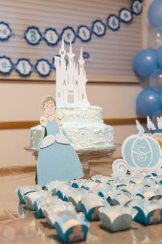 Cake topper and table decoration - Cinderella inspired party by Festiva Party Design Cinderella Decorations, Cinderella Birthday, Golden Birthday, Princesses, Cake Toppers, Parties, Party Ideas, Table Decorations, Inspired