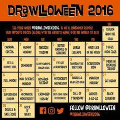 DRAWLLOWEEN 2016 Challenge - October 1-November 1