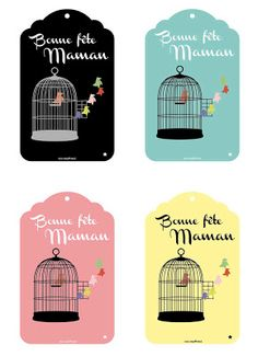 Mother's Day in French Label Printable Border, Free Printable Tags, Printable Planner, Printables, Mother And Father, Mother Gifts, Boxes And Bows, Happy Mothers Day, Gift Tags