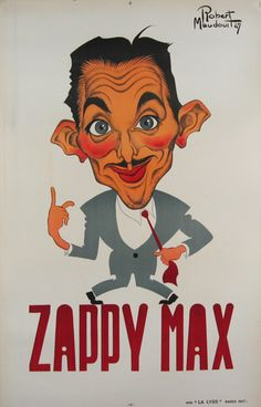 Zappy Max by Robert Maudouit from 1947 France #originalposter #antiqueposter #vintageposter #décor