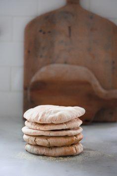 Falafels with Home Made Pita and Creamy Tahini Sauce