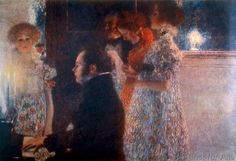 Gustav Klimt - Schubert am Klavier / Klimt 1899