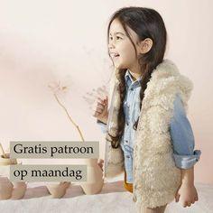 Gratis patroon op maandag - Breipatroon Gilet. Ontvang ieder maandag het gratis patroon en een leuke aanbieding van het garen. Knitting For Kids, Drops Design, Fur Coat, Sewing, Knits, Baby, Fashion, Moda, Dressmaking