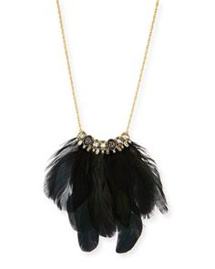 Elements+Small+Feather+Necklace+by+Alexis+Bittar+at+Neiman+Marcus.